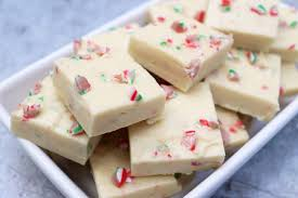 slow cooker peppermint candy cane fudge