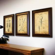 golf 3 piece framed wall art set on golf wall art near me with golf 3 piece framed wall art set