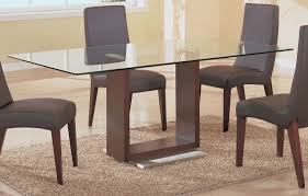 glass top dining tables with wood base unique rectangular glass top dining table with metal base