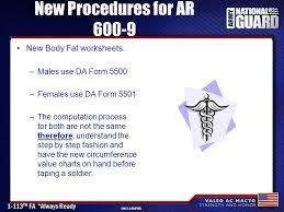 Da Form 5500 Chart Weight Control Program Ar 27 Nov 06 30 Th Hbct Ncodp