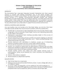 Interpreter Job Description Educational Sign Language Interpreter Tehama County