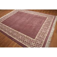 Dusty Rose/Ivory Wool Hand-knotted Tibetan Area Rug (8' x 10') - Free  Shipping Today - Overstock.com - 23194393
