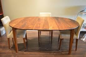 solid walnut prairie round table with leaf