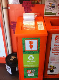 Home Depot Recycling Bins Simple Recycle CFL Bulbs At Home Depot Think Outside The Bin