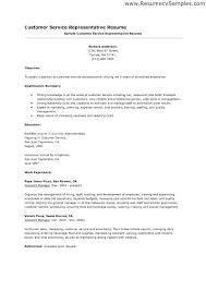 Customer Service Representative Resume Example Unique Customer Service Sales Skills Sample Resume Sample Resume Customer