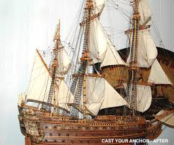 ship model cleaning and restoration