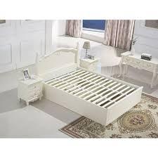 Queen Wooden Bed Frame w Gas Lift Storage in White