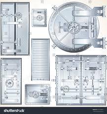steel vault doors. Set Of Abstract Steel Vault Doors. Finance And Business Concept. Door Doors
