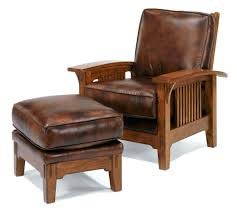 Leather Accent Chair With Ottoman Brown Leather Accent Chair With Ottoman Large And 28529 Interior