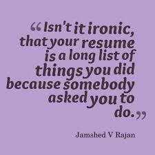 what all to add in your resume com resume ironic