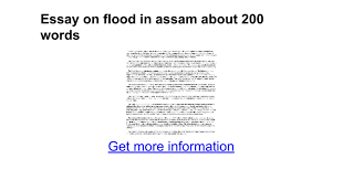 essay on flood in assam about words google docs