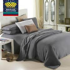 whole dark grey pure solid bedding king queen twin size male quilt cover sets bed sheets set pillowcases duvets covers cotton duvet cover sets