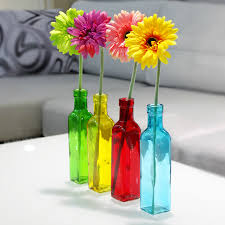 Decorative Colored Glass Bottles European 100 Color Glass Bottle Flower Vase Fashion Small Glass 39