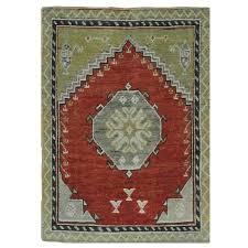 small vintage tribal turkish rug for