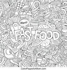Free Food Coloring Pages For Print Out Jokingartcom Free Food