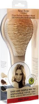 <b>Щетка</b> Michel Mercier, <b>деревянная для тонких</b> волос, бежевый ...