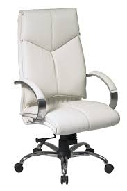 president office chair black. 7270 Office Star Deluxe High Back Executive White Leather Chair Black President