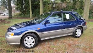 subaru outback 2000. side view blueridge pearl subaru impreza 5 door hatchback outback sport wagon 2000