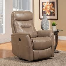 parker house gemini anywhere power swivel recliner in linen leatherette tap to expand