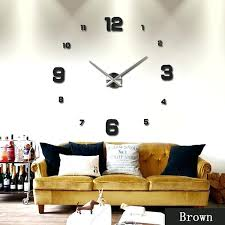 wall cloocks mirror surface sticker modern large atomic wall clocks target