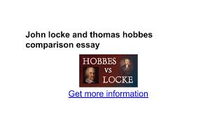 john locke and thomas hobbes comparison essay google docs