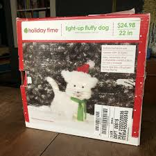 Holiday Time Light Up Led Fluffy Snowman Instructions Holiday Time Light Up Fluffy Dog White Terrier 22 Tall Indoor Outdoor Open Box