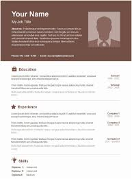 Free Simple Resume Format Download Traditional Resume Examples ...