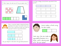 Equivalent Fractions Bars Chart Year 3 Equivalent Fractions Using The Bar Model Lesson Pack