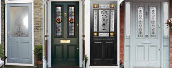 plymouth decorative glass front door