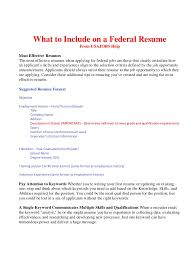 Skills To Add To Resume What to Include on a Federal Resume BOP 85