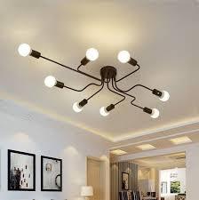 zenya modern led ceiling light black