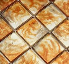 hot lava beige orange yellow glass kitchen mosaic tile by tiles uk
