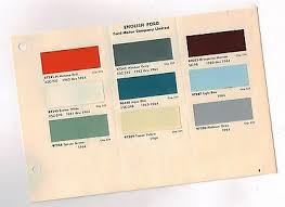 1964 English Ford Color Chart Chip Paint Sample Paint