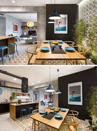 Rental Apartment Design Concrete Wood Tiles And Black Accents Are All Combined In
