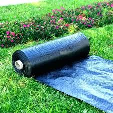 plastic weed barrier visqueen projects