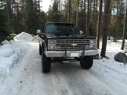 1987 Chevrolet Silverado 1500 V10 4×4 Black on Black, Lifted for sale