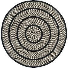 safavieh braided ivory and black round indoor braided area rug common 4 x 4 4 ft round braided rug how big is a 4ft round rug 4 ft round bathroom rug