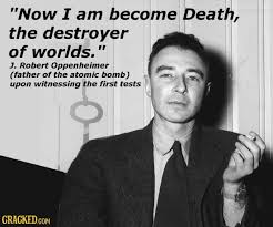 Oppenheimer Quote Mesmerizing Oppenheimer Quote Best Quotes Ever