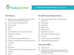 birth plan suggestions what to pack in your hospital bag babycenter australia