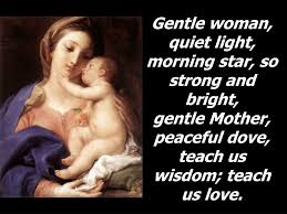 Gentle Mother Quiet Light Ppt Hail Mary Gentle Woman Powerpoint Presentation Free