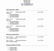 Free Easy Resume Template Unique Download Easy Resume Format Haadyaooverbayresort Basic Template