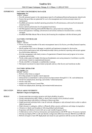 Factory Resume Samples Velvet Jobs