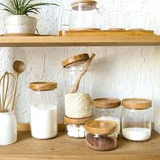 glass canisters with wood lids japan style glass e jar kitchen canisters cookie jars wooden lid glass canisters with wood lids