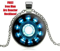 Free Iron Man Arc Reactor Pendant Necklace Iron Man Arc
