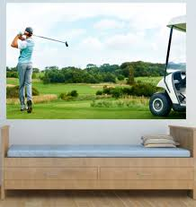 wm257 driving from the tee golf photo wallpaper mural