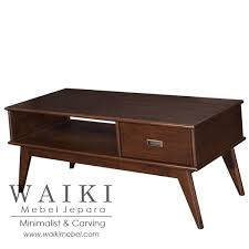 coffee table furniture. Meja Tamu Gaya Retro Minimalis Scandinavia Jepara,miring Coffee Table Vintage Jepara Teak Furniture