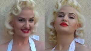 Marilyn Monroe Hairstyle Marilyn Monroe Hair Tutorial Youtube