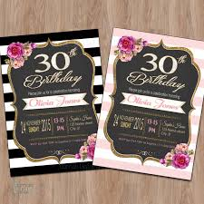 30th birthday invitations for her and get inspiration to create the birthday invitation design of your dreams 1