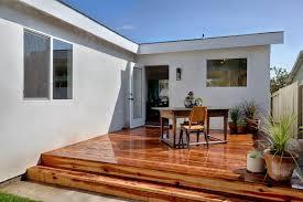 diy wooden deck designs. wood deck and white home exterior diy wooden designs