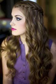 hairstyle for long hair curly hair for party